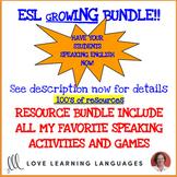 ESL - ELL games and speaking activities - Growing bundle curriculum supplement
