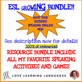 ESL - ELL games and speaking activities - Growing bundle curriculum supplement