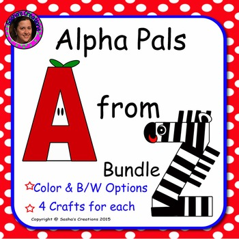 Alpha Pals Letter Crafts A to Z Interactive Bundle