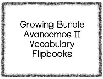 Avancemos II Vocabulary Flipbooks