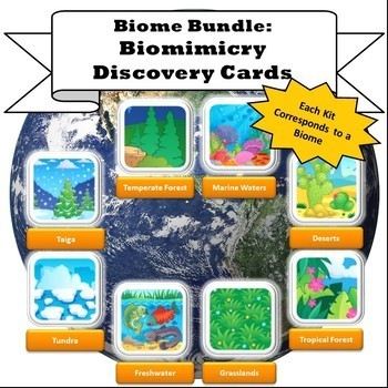Biome Bundle: Biomimicry Discovery Cards Kits (Buy in bulk to save!) LS1