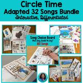 Growing Interactive  Adapted Bundle: Songs, Choice Board, Seasonal, Nursery