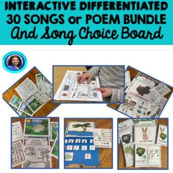 Growing Interactive  Adapted Bundle: Songs, Choice Board
