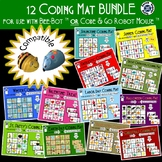 12 Month Coding Mat Bundle - compatible with Bee-Bot or Code and Go Robot Mouse