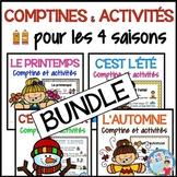 Comptine et activités de lecture et écriture pour les 4 saisons BUNDLE