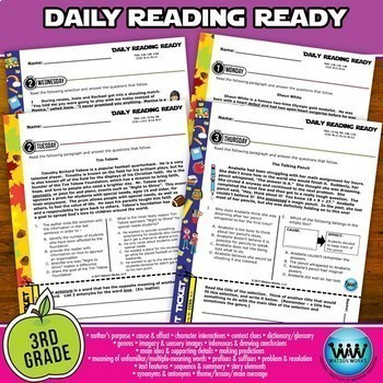 BUNDLE ~ DAILY READING READY ~ Full Year 3rd Grade Daily Reading Review