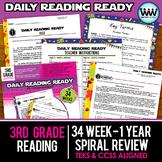BUNDLE 3rd Grade Daily Reading Spiral Review Full Year New ELAR TEKS
