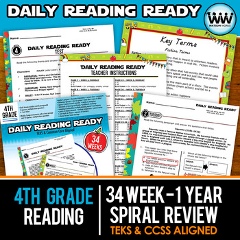 Growing Bundle ~ DAILY READING READY ~ Full Year 4th Grade Daily Reading Review