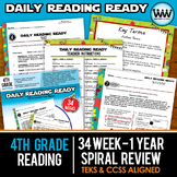 Growing Bundle ~ DAILY READING READY ~ Full Year 4th Grade