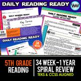 Bundle 5th Grade Daily Reading Spiral Review Full New ELAR TEKS