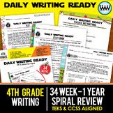 Growing Bundle ~ DAILY WRITING READY ~ Full Year 4th Grade