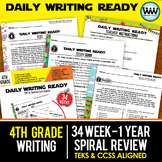 Growing Bundle ~ DAILY WRITING READY ~ Full Year 4th Grade