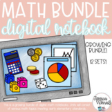 DIGITAL Math Interactive Notebooks for Distance Learning Bundle!!