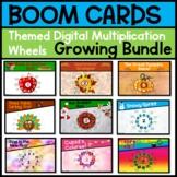Growing Bundle Digital Multiplication Wheels Boom Task Cards