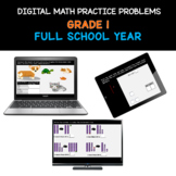 COMPLETE Distance Learning   FULL YEAR Grade 1 Math Practi