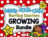 Growing Bundle: EDITABLE Make-Your-Own Sorting Centers