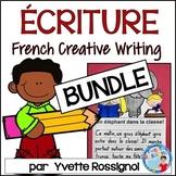 BUNDLE! French writing prompts NO PREP! (Écriture SANS préparation)