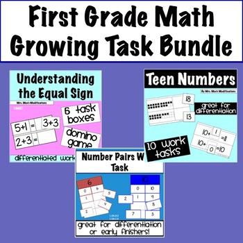 Growing Bundle- First Grade Math Work Tasks