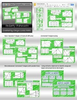 Growing Bundle - Geometry Google Drive Interactive Activities - Paperless