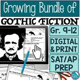 Growing Bundle Gothic Fiction Literature Lessons Activitie