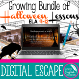 Growing Bundle Halloween Lessons / Activities High School English Google Apps