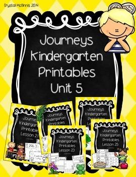 Bundle! Journeys Unit 5 Kindergarten Supplementary Materials