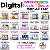 Bundled Kindergarten Math All Year Google Slides/Seesaw Di