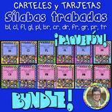 Bundle! L and R Blends CARTELES y TARJETAS de sílabas trabadas ESPAÑOL