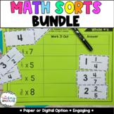 Growing Bundle Math Sorts - Math Centers - Math Practice