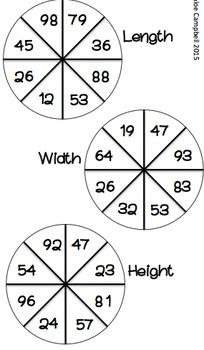 Growing Bundle! Math Spinner Activities