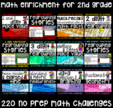NO PREP 2nd Grade Math Challenge Mega Pack - 190 Just Hit
