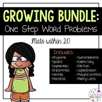 Growing Bundle: One Step Word Problems