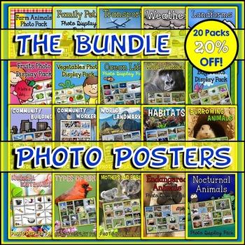 Mega Bundle of Photo Posters Display Packs {UK Teaching Resource}