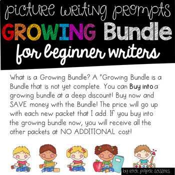 Growing Bundle Picture Writing Prompts for Beginning Writers