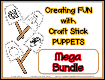 Growing Bundle Popsicle / Craft Stick Puppets  - Preschool Daycare Curriculum