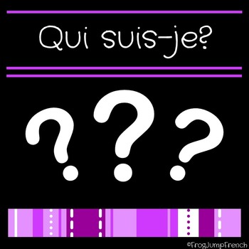 Growing Bundle Qui suis-je? French Reading Comprehension Game