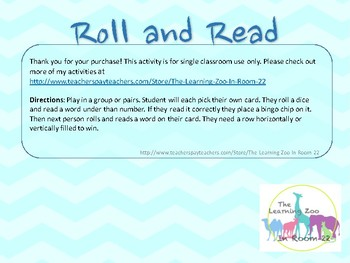 Print 'N Play: Roll and Read Sight Word