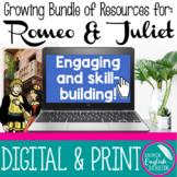 Growing Bundle Romeo and Juliet Assignments Activities SAT