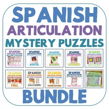 Growing Bundle: Spanish Articulation Mystery Puzzles