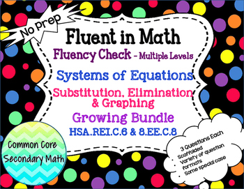 Growing Bundle: Systems of Equations All Methods Fluency C