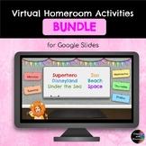 BUNDLE - 6 Weeks of Themed Homeroom Virtual Learning Activities - Google Slides