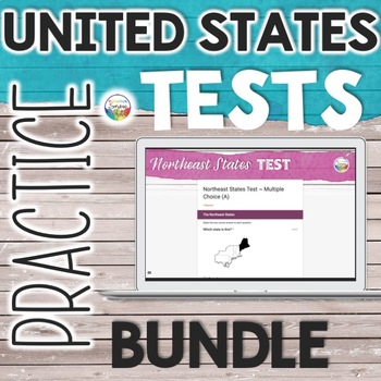 Growing Bundle: United States Capitals Tests Quizzes for Google Drive Classroom