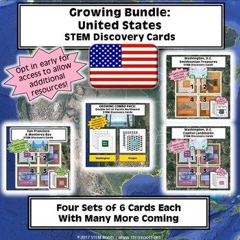 Growing Bundle: United States STEM Discovery Cards Kits (Opt in early to save!)