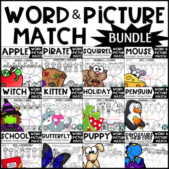 Growing Bundle: Word & Picture Match Articulation