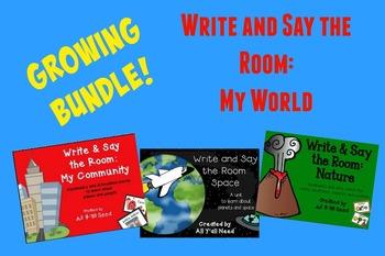 Growing Bundle - Write & Say the Room: My World