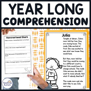 Comprehension Growing Bundle, Year Round