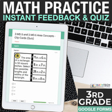 3rd Grade Google Forms - Practice and Exit Tickets Distanc