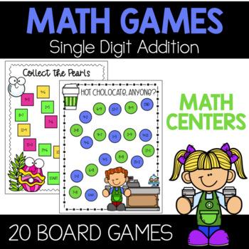 Addition Math Games {Math Centers}