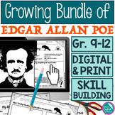 Growing Bundle of Edgar Allan Poe Lessons Activities High School English Digital