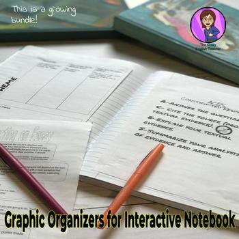 Growing Bundle of Graphic Organizers for Interactive Notebook